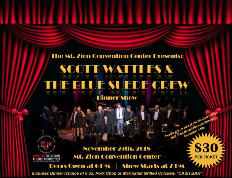 Scott Wattles & The Blue Suede Crew Dinner Show